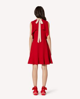 REDValentino EXCLUSIVE CAPSULE Ruffles detail crepe envers satin dress