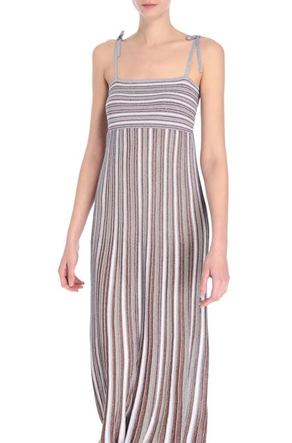 M MISSONI Long dress Purple Woman - Front