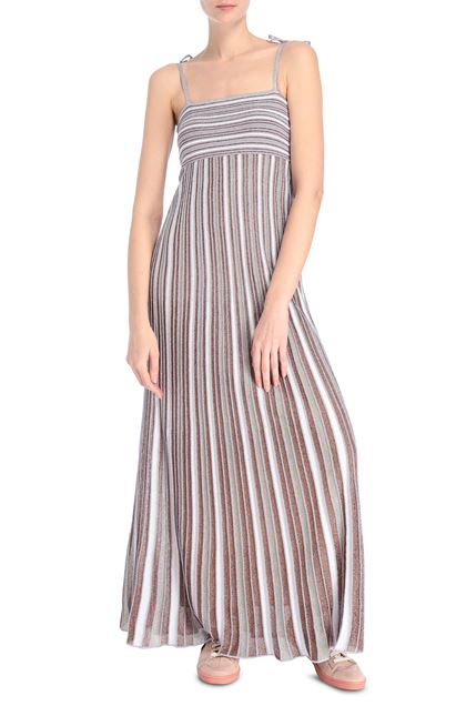 M MISSONI Long dress Purple Woman - Back