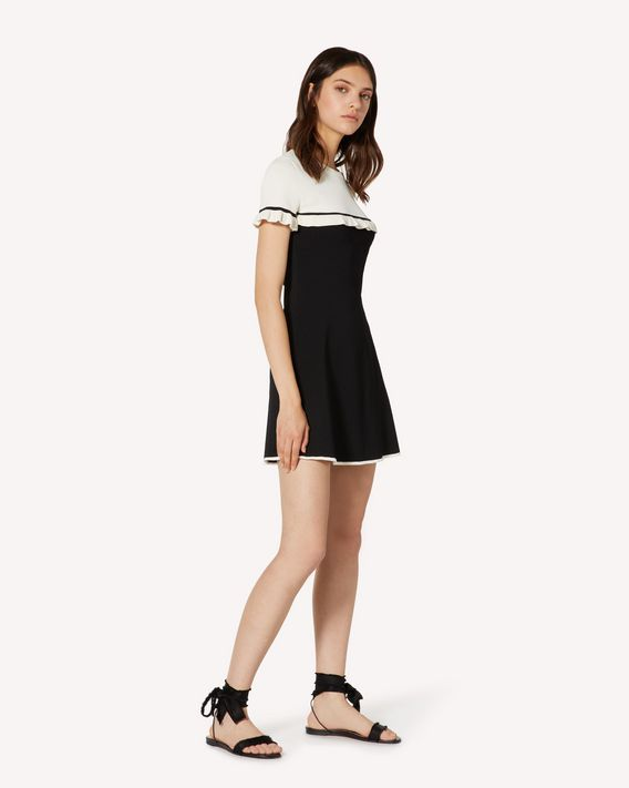 REDValentino Stretch viscose dress with ruffles
