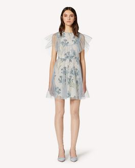 REDValentino Tulle dress with printed lining