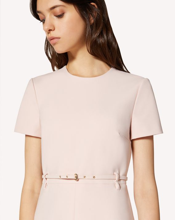 REDValentino Belt detail cady tech dress