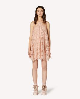 REDValentino Organza cut out embroidered point d'esprit tulle dress
