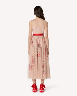REDValentino EXCLUSIVE CAPSULE Fireworks embroidered point d'esprit tulle dress