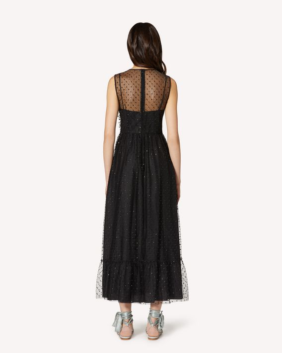 REDValentino Dress in Glitter Polka Dot Tulle