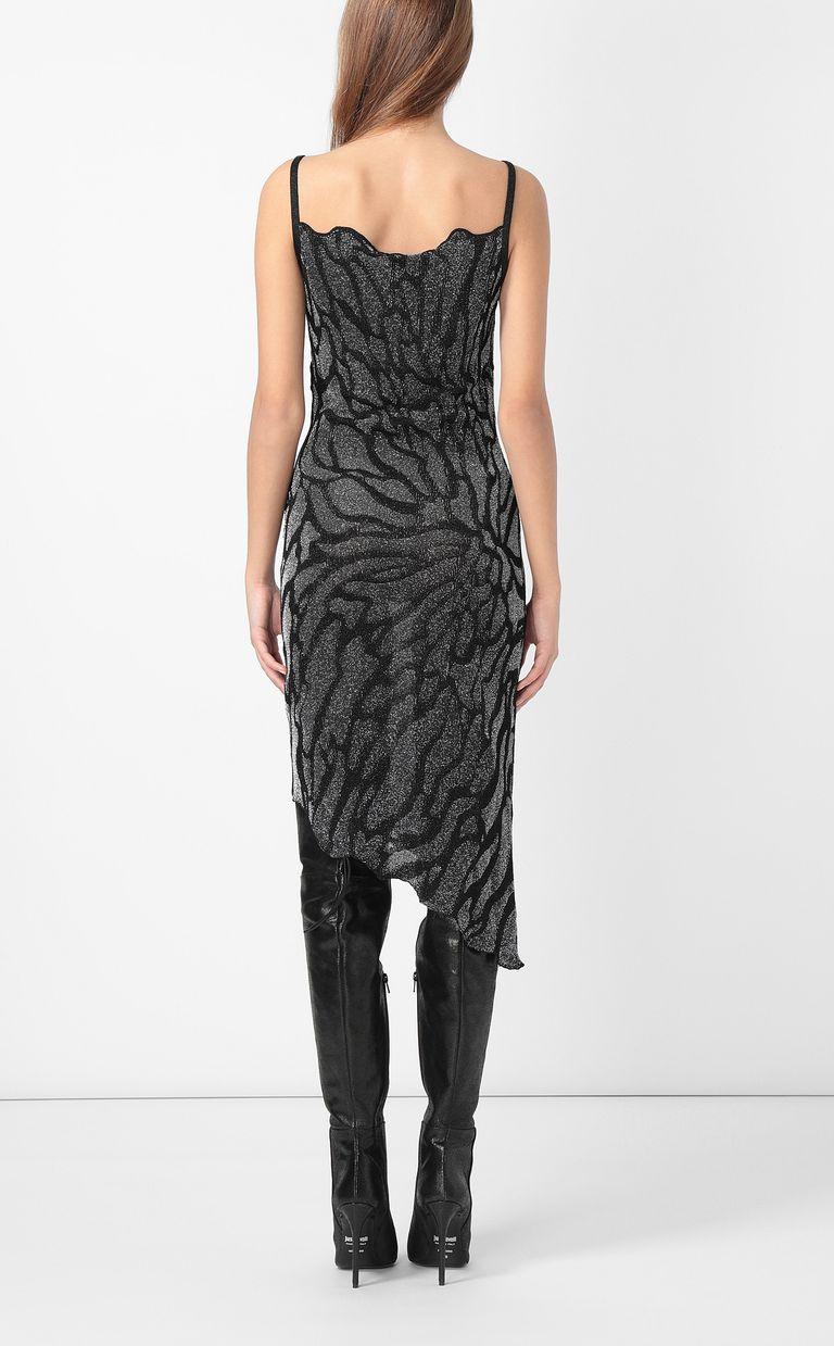 JUST CAVALLI Asymmetrical zebra-stripe dress Dress Woman a