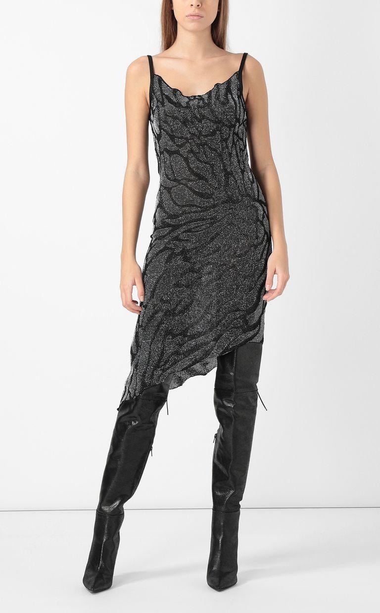 JUST CAVALLI Asymmetrical zebra-stripe dress Dress Woman d