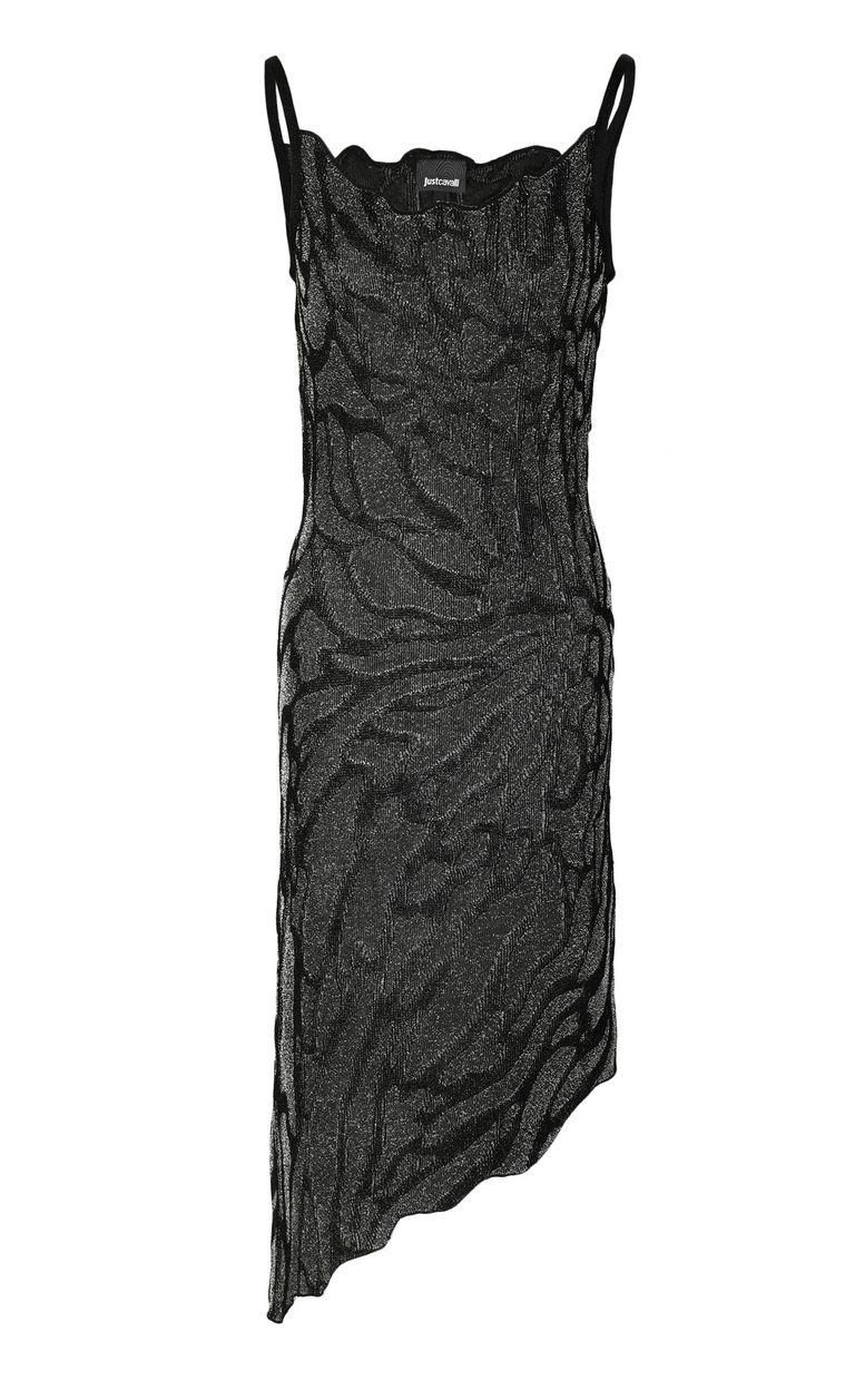JUST CAVALLI Asymmetrical zebra-stripe dress Dress Woman f