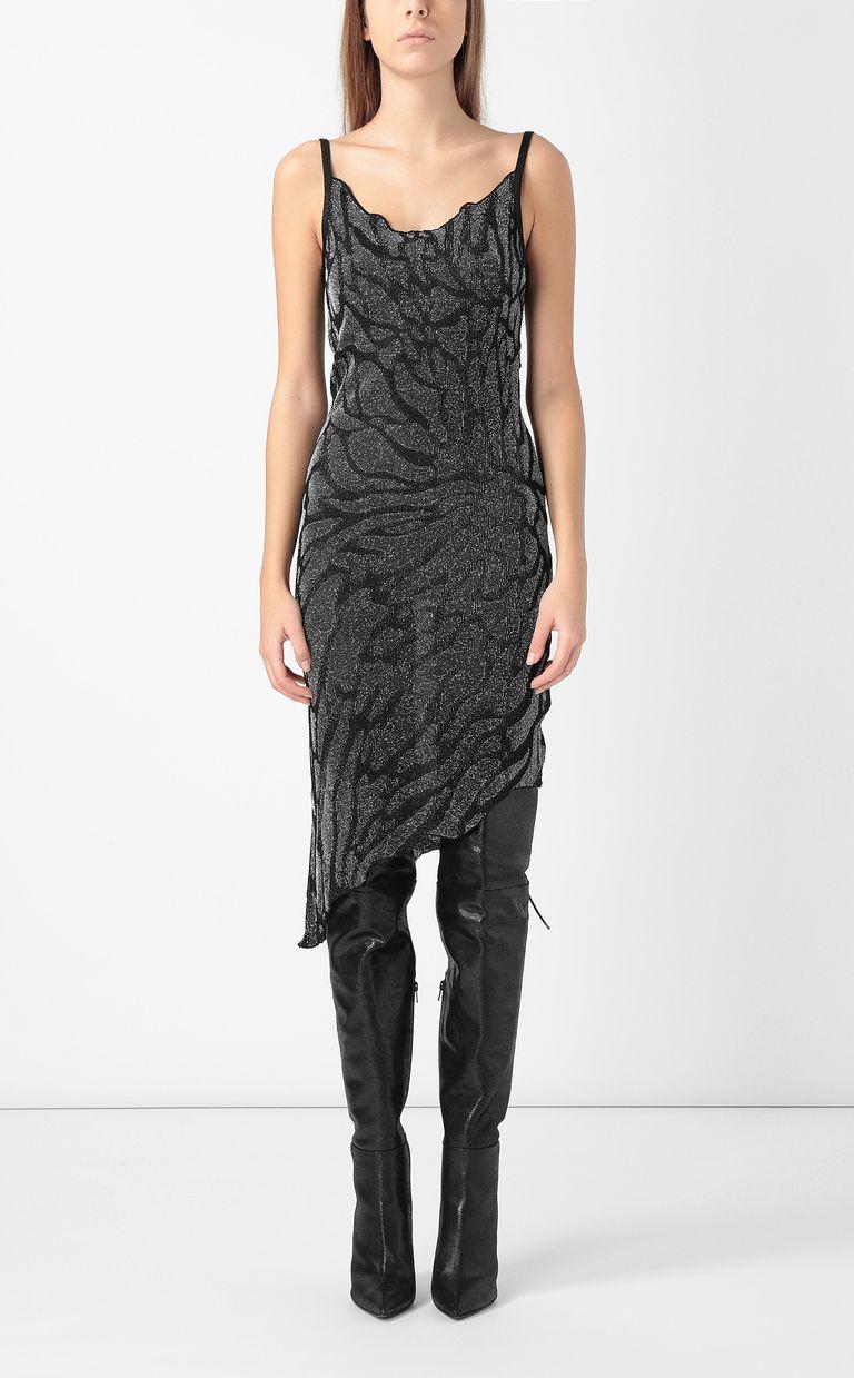 JUST CAVALLI Asymmetrical zebra-stripe dress Dress Woman r