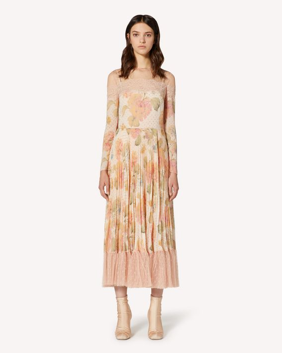 REDValentino Evanescent Flowers printed muslin dress