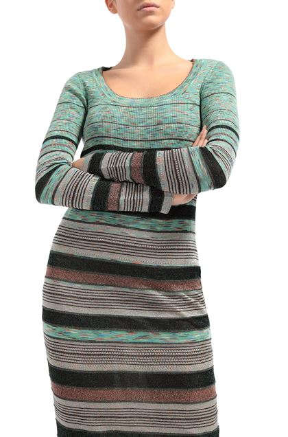 M MISSONI Long dress Green Woman - Front