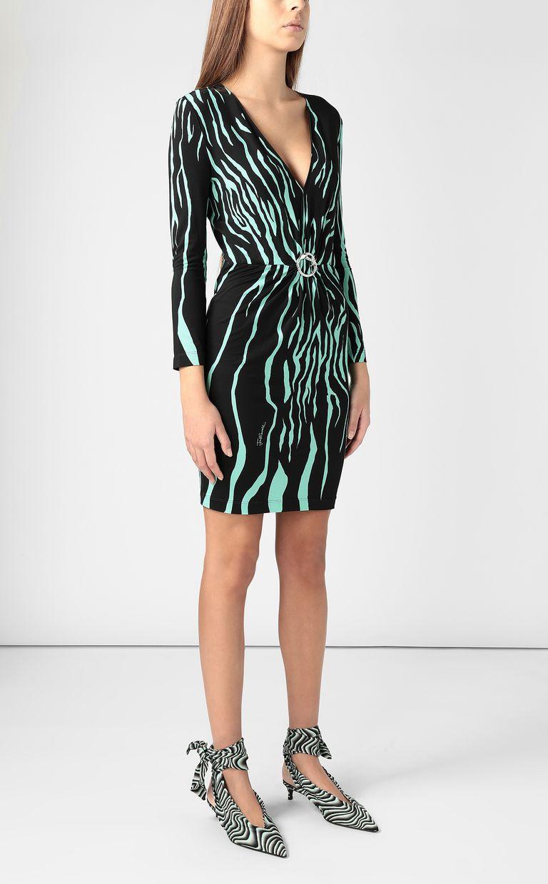 JUST CAVALLI Dress with zebra-stripe print Dress Woman d