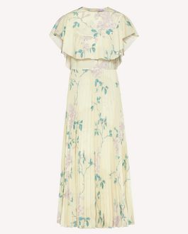REDValentino Jasmine Vines crepe de chine dress