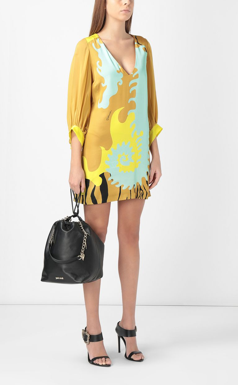 "JUST CAVALLI Dress with ""Seahorse"" print Dress Woman d"