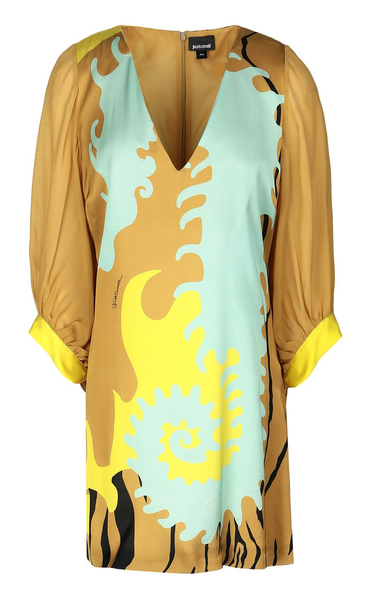 "JUST CAVALLI Dress with ""Seahorse"" print Dress Woman f"