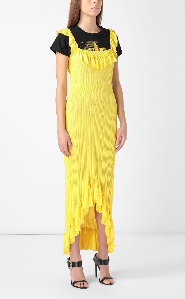 JUST CAVALLI Knitted dress with ruffles Dress Woman d