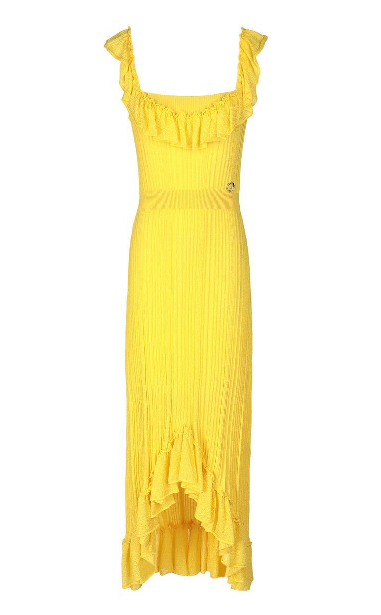 JUST CAVALLI Knitted dress with ruffles Dress Woman f