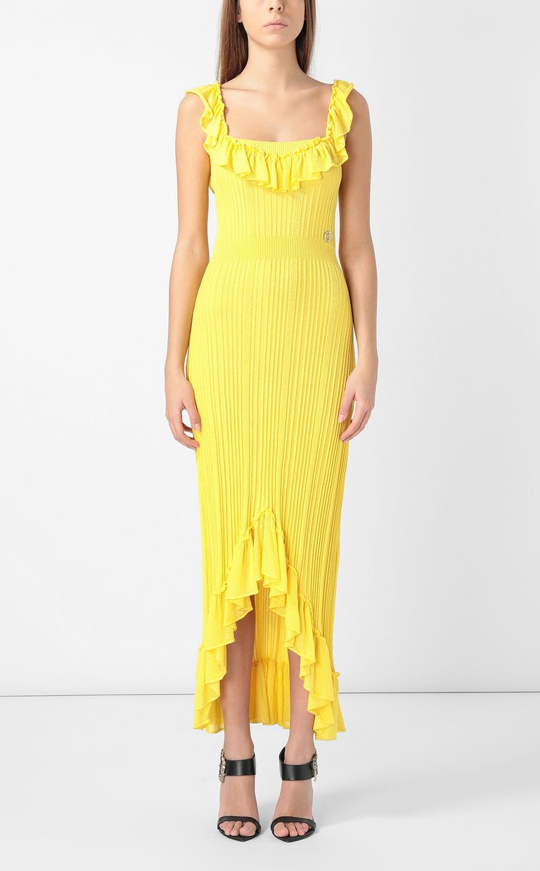 JUST CAVALLI Knitted dress with ruffles Dress Woman r