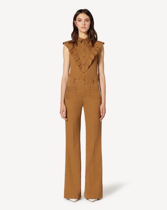REDValentino Cotton gabardine flared jumpsuit