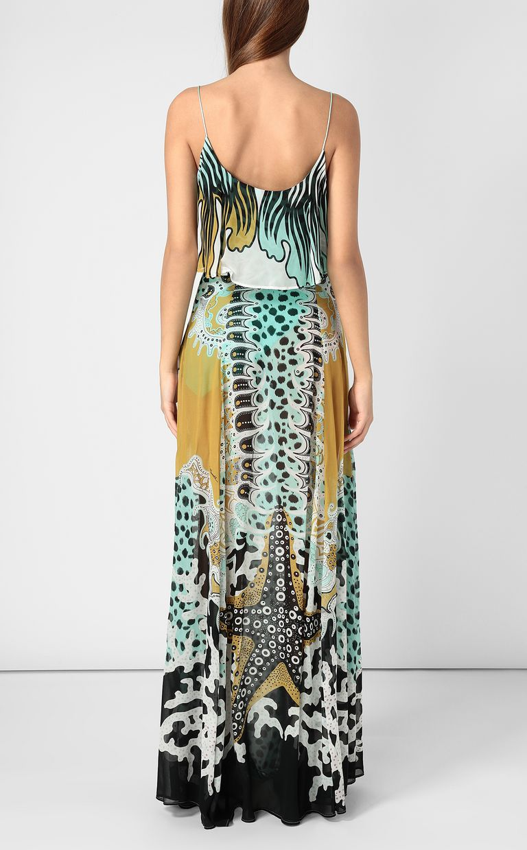 JUST CAVALLI Full-length gown with print design Dress Woman a