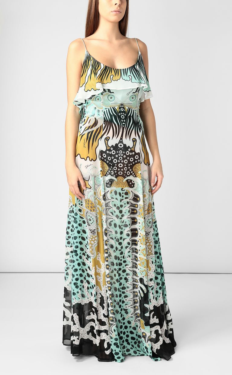 JUST CAVALLI Full-length gown with print design Dress Woman d