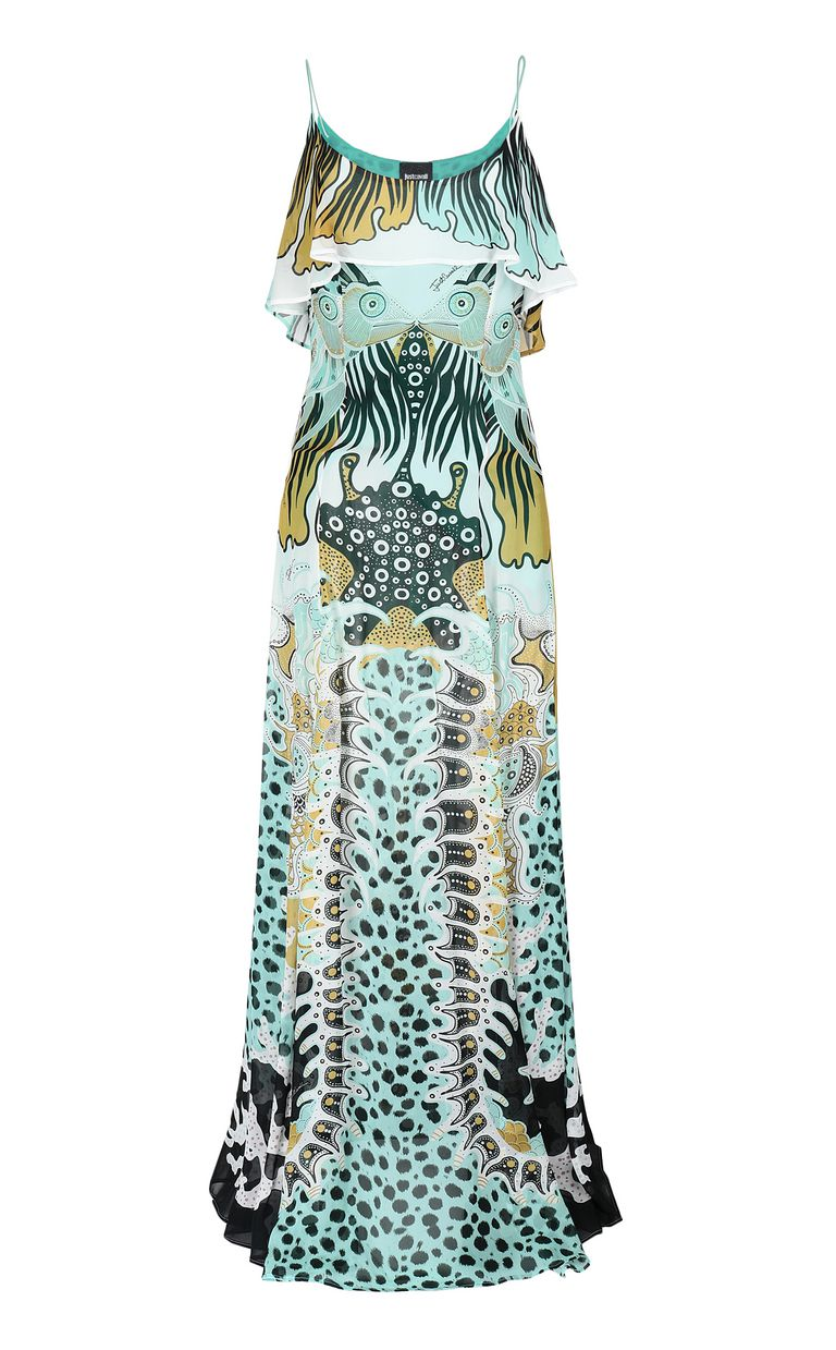 JUST CAVALLI Full-length gown with print design Dress Woman f