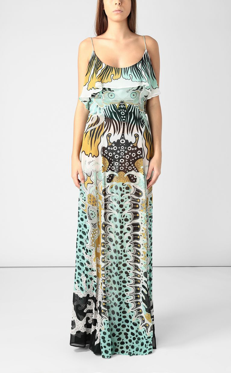 JUST CAVALLI Full-length gown with print design Dress Woman r