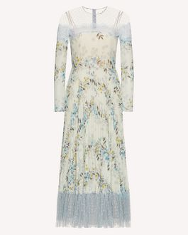 REDValentino Floral Flounces printed muslin dress
