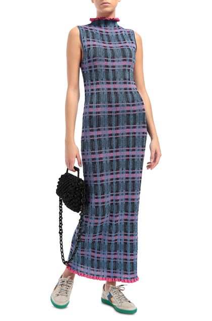 M MISSONI Long dress Lilac Woman - Back