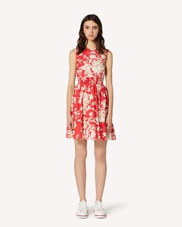 REDValentino Graphic Flora printed cotton dress