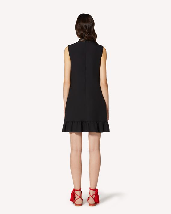 REDValentino Satin-backed crepe and point d'esprit tulle dress