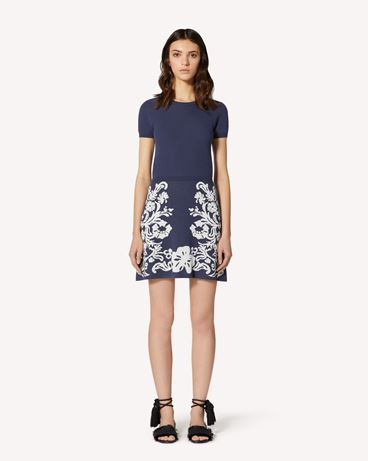 REDValentino Stretch viscose dress with jacquard Graphic Flora detail