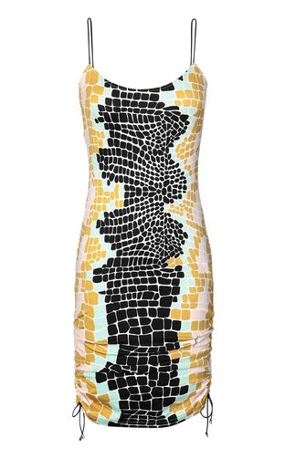 JUST CAVALLI Dress Woman Dress with zebra-stripe print f