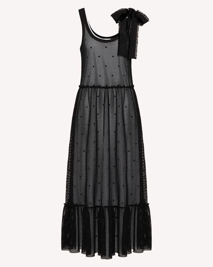 REDValentino Langes und mittellanges Kleid Dame TR0MJ03Q54C 0NO a
