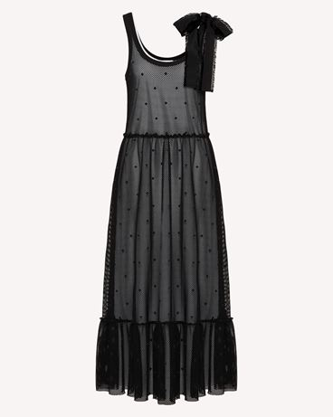 REDValentino TR0MJ03Q54C 0NO Long and midi dresses Woman a