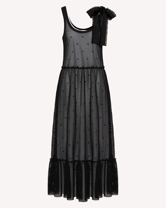 REDValentino Mesh jersey dress with point d'esprit pattern
