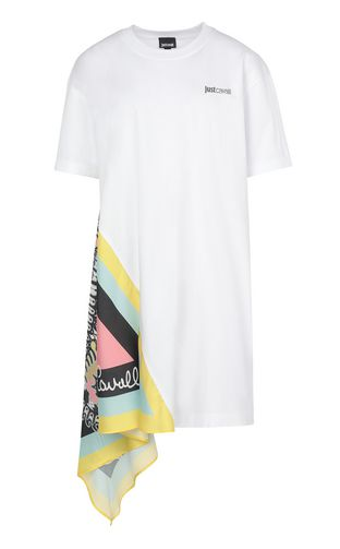 JUST CAVALLI Dress Woman Dress in zebra-stripe jacquard f