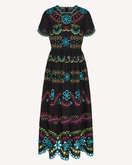 REDValentino Long and midi dresses Woman TR0VA12B51E N78 a