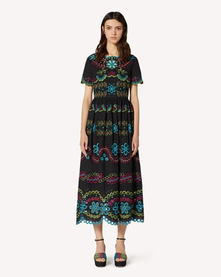 REDValentino Long and midi dresses Woman TR0VA12B51E N78 f