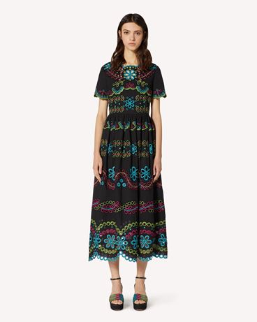 REDValentino TR0VA12B51E N78 Long and midi dresses Woman f