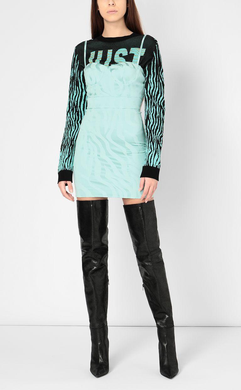 JUST CAVALLI Dress in zebra-stripe jacquard Dress Woman d