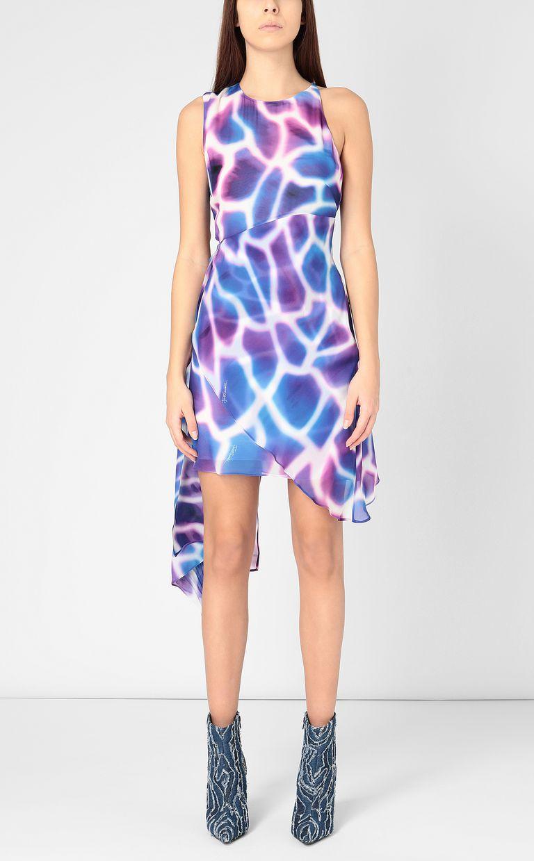 """JUST CAVALLI Dress with """"Water Giraffe"""" print Dress Woman r"""