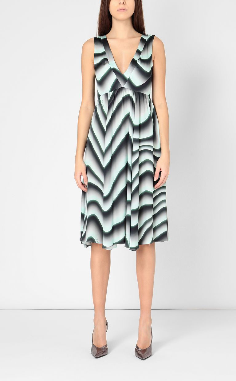"JUST CAVALLI Midi dress with ""Sand"" print Dress Woman r"