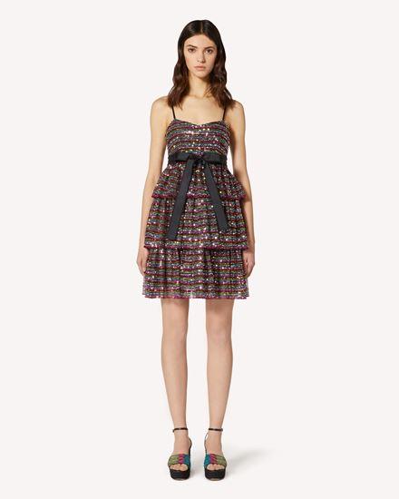 REDValentino Kurzes Kleid Dame TR0VA12W51U N78  f