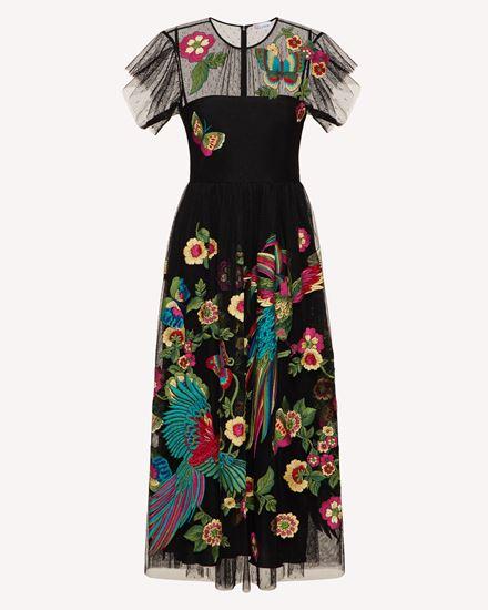 REDValentino Langes und mittellanges Kleid Dame TR0VA11U51S 0NO  a