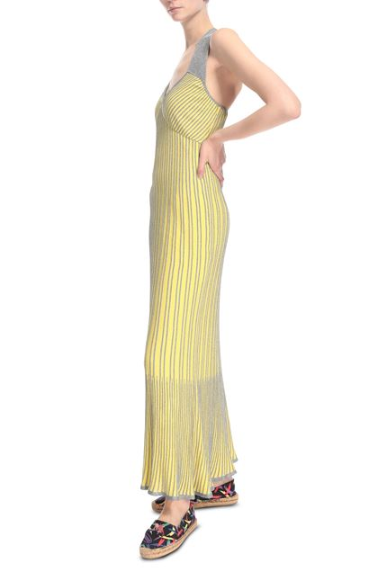 M MISSONI Long dress Yellow Woman - Back