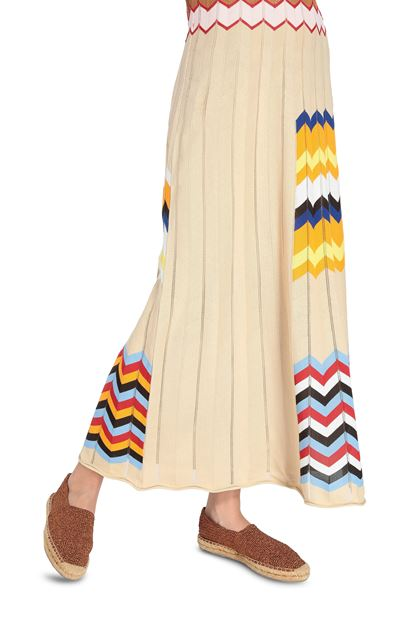 M MISSONI Long dress Beige Woman - Front