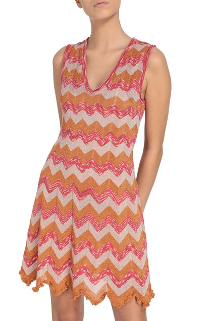 M MISSONI Dress Orange Woman - Front
