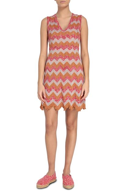 M MISSONI Dress Orange Woman - Back