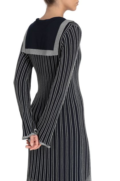 M MISSONI Long dress Dark blue Woman - Front